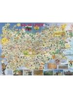 """Пъзел от колекцията """"Обичам България"""" - """"Карта на България с исторически и географски забележителности"""""""